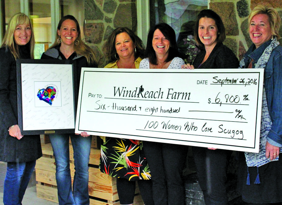 Windreach Farm Cheque Presentation